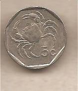 Malta - Moneta Circolata Da 5 Centesimi - 1991 - Malta