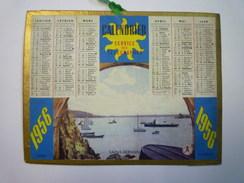 """PETIT CALENDRIER  """"Service Des Télégraphes""""   1956   (format  13,5 X 10,5 Cm) - Calendriers"""