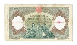 BILLET 5000 LIRES - DECRET 14 OCTOBRE 1947 + DECRET 23 MARS 1961 E 25 OCTOBRE 1947 - 5000 Lire