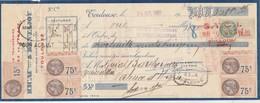 Lettre Change 20/7/1931 RICAU & BENTAJOU Articles Ménage TOULOUSE Haute Garonne Pour Valence D'Agen Timbres Fiscaux - Lettres De Change
