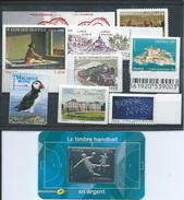 FRANCE - ANNEE 2012 - Tous Les Autoadhésifs émis Par Feuille Soit 11 Timbres Entre Les Numéros 648 Et 764a + Tbr Argent. - Adhesive Stamps