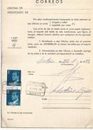 ESPAÑA CORREOS DOCUMENTO RECLAMACION POR FALTA DE FRANQUEO MAT MOTRICO GUIPUZCOA CERTIFICADO - 1931-Hoy: 2ª República - ... Juan Carlos I