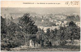 95 FRANCONVILLE - Vue Générale Du Quartier De La Gare       (Recto/Verso) - Franconville