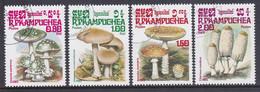 Kampuchea 1985, Mi-Nr. 648#651, Giftige Pilze, Gestempelt Siehe Scan - Kampuchea