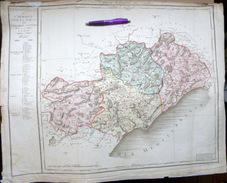 34 L'HERAULT CARTE ANCIENNE PREMIERE CARTE DEPARTEMENTALE 1804 CHANLAIRE - Cartes Géographiques