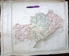 34 L'HERAULT CARTE ANCIENNE PREMIERE CARTE DEPARTEMENTALE 1804 CHANLAIRE - Geographical Maps