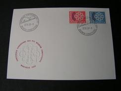 CH FDC 1959  681-682 Michel € 30,00 - FDC