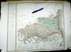 66 PYRENEES ORIENTALES  CARTE ANCIENNE PREMIERE CARTE DEPARTEMENTALE 1804 CHANLAIRE - Geographical Maps