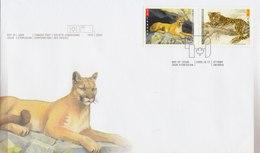 CANADA 2005 FDC With Big Cats - Raubkatzen