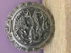 Poudrier En Argent Dragon - Argenterie