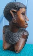 Sculpture En Bois, Statue, Buste De Femme, Art Africain - Art Africain