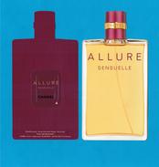 Cartes Parfumées Carte CHANEL  ALLURE  SENSUELLE  De CHANEL RECTO VERSO LIQUATOUCH - Modern (from 1961)