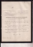 WILDEREN DURAS Berthe Comtesse D'OULTREMONT 18 Ans 1869 Faire-part Mortuaire Doodsbrief Adel - Avvisi Di Necrologio