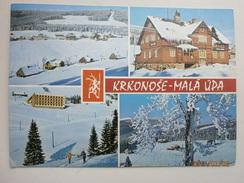Postcard Krkonose Mala Upa Czech Republic Multiview Used 1971 My Ref B2304 - Czech Republic