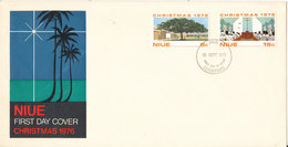 Niue FDC 15-9-1976 With Complete Set Of 2 Christmas Stamps With Cachet