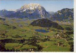 AIGEN Im Ennstal, Luftbild, Panorama Mit Dachstein Und Grimming - Österreich