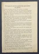 FEUILLET D'INSTRUCTION ENVOI DES LETTRES ET COLIS SPECIAL STALAG I A ET STALAG I B Dans CL Prisonnier De Guerre - Guerre De 1939-45
