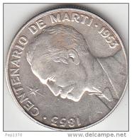 CUBA 1953 - MONEDA DE PLATA (SILVER) DE 50 CENTAVOS - CENTENARIO DE JOSE MARTI - Cuba