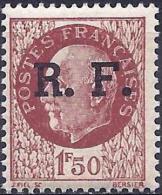 France 1944 - Pétain, Stamp Overprinted Of The Liberation Lyon ( Mi Xxx - YT 10 ) MNH** - Libération