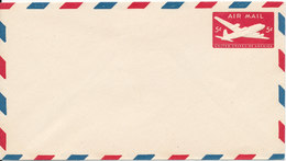 USA Postal Stationery Air Mail Cover In Mint Condition 5 C Aeroplane Red