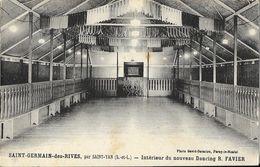 Saint-Germain-des-Rives Par Saint-Yan (S. Et L.) - Intérieur Du Nouveau Dancing R. Favier - Carte Non Circulée - Danse