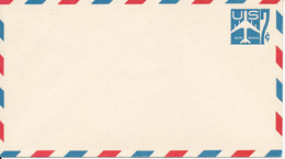 USA Postal Stationery Air Mail Cover In Mint Condition 7 C Aeroplane Blue