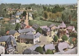 D19 - LAGARDE - LES HOTELS - PLACE DE L'EGLISE - EN AVION AU-DESSUS DE .... - Francia