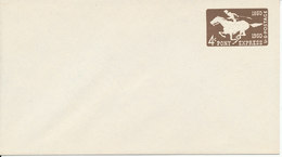 USA Postal Stationery Air Mail Cover In Mint Condition 4 C Pony Express Brown