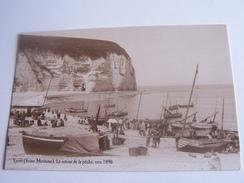 YPORT LE RETOUR DE LA PECHE     VERS 1890 TB REPRODUCTION CPA OFFERT PAR EDIT ATLAS - Yport