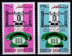 Qatar MiNr. 677/78 ** 100 Jahre Telefon - Qatar