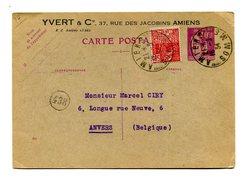 !!! ENTIER POSTAL 40C PAIX AVEC REPIQUAGE YVERT ET TELLIER - Postal Stamped Stationery