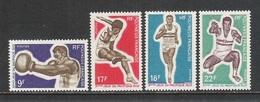 POLINESIA FRANCESE - 1969 - 4 Valori Nuovi S.t.l. - 3° GIOCHI SPORTIVI DEL SUD PACIFICO - In Ottime Condizioni. - Polinesia Francese