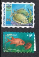 NOUVELLE-CALEDONIE N°998 ET 1185  POISSONS - Used Stamps