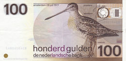 Netherlands 100 Gulden 1977 VF-EXF P-97 - 100 Florín Holandés (gulden)