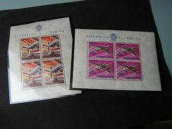 SM 2 Klbg, 1964-1965  €  45,00 ** MNH 801, 829 - Blocks & Kleinbögen