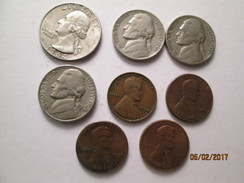 UNITED STATES Of AMERICA 25 Cents 1964,5 Cents 1940,1954,1964 ;1 Cent 1960 D Small Date, # L 2 - 1932-1998: Washington