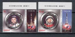 Romania 2011 Space Dumitru Dorin Prunariu Yuri Gagarin 2v** MNH - 1948-.... Republics