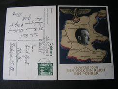 DR Karte Adolf  1938 - Allemagne