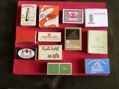 Vintage 12 Boites D`Allumettes Publicité Hotels  - Old Matchboxes Publicity Hotels - Zündholzschachteln
