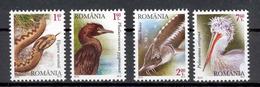 Romania 2010 Protected Fauna Of The Danube River Birds Pelican Fish Snake 4v** MNH
