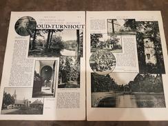 2 Blz Uit Tijdschrift De Stad Antwerpen 1933: Wandeling Door ... Oud-Turnhout / Ieper Beelden Uit Ieperen - Oud-Turnhout
