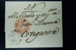 Spain: La Coruna A OrtigueiraOmitidos Un Numero Del Dia Missing Digits Of Year Cancel ..46  Complete Letter 16-3-1846 - Spanien