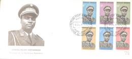 GENERAL MAJOR HABYARIMANA PRESIDENT DE LA REPUBLIQUE RWANDAISE ENVELOPPE FDC 1974 - Rwanda