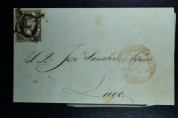 Spain: Complete Letter Vivero A Ribadeo  Lugo  Ed. 6 Mi Nr 6 , 1851 - 1850-68 Königreich: Isabella II.