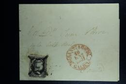 Spain: Complete Letter Santiago A La Coruna Ed. 6 Mi Nr 6 , 1851 - 1850-68 Regno: Isabella II