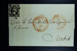 Spain: Cover Omitido El Ultimo Numero Del Ano  Ed. 6 Mi Nr 6 , 1851 Orense A Madrid, Cancel Year 185. Incompl. - 1850-68 Kingdom: Isabella II
