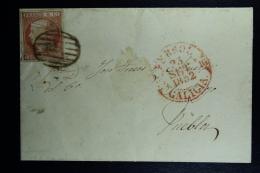 Spain: Complete Letter De Ferral A Pueblo Ed. 12 Mi Nr 12 , 1852 - Lettres & Documents
