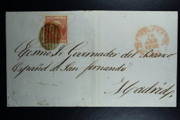 Spain: Complete Letter De Pontevedra A Madrid   Ed. 12 Mi Nr 12 , 1852 - 1850-68 Regno: Isabella II