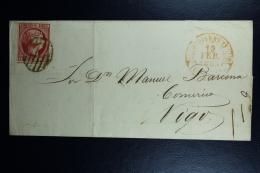 Spain: Cover De Caldas De Reyes A Vigo Ed. 17 Mi Nr 17 , 1853 - 1850-68 Kingdom: Isabella II