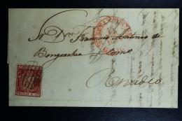 Spain: Complete Letter De Sada A Ribadeo  Ed. 24 Mi Nr 26 , 1854 - Lettres & Documents
